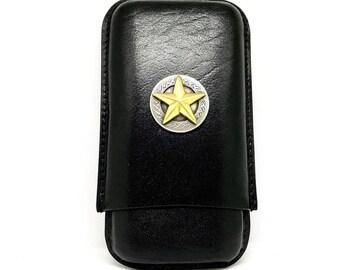 Antique Texas Star Cigar Case