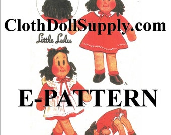 E-Pattern – Little Lulu Doll Sewing Pattern #EP 1447