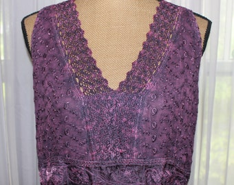 Gorgeous Incredibly Detailed Vintage 1990's Embroidered Rayon Dress Made In India