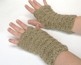 Mitaines fingerless Gloves-un gruau brun
