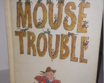 Vintage 1972 first print mouse trouble book john yoeman weekly reader