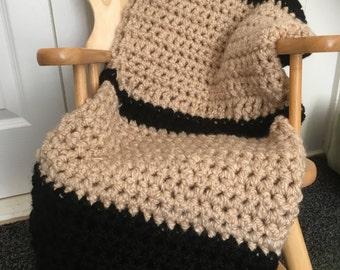 Chunky crochet blanket, crochet throw, knee blanket, living room decor, bedroom decor