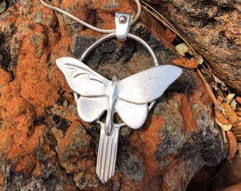 May Your Dreams Always Have Wings - Sterling Silver Butterfly Pendant Necklace