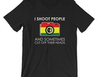 I Shoot People Photography T-shirt Photographer Tee
