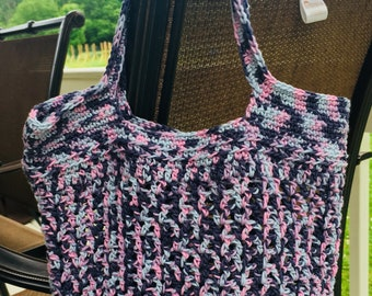 Stormy Skies!   A Crochet Market/Beach bag, Hand bag