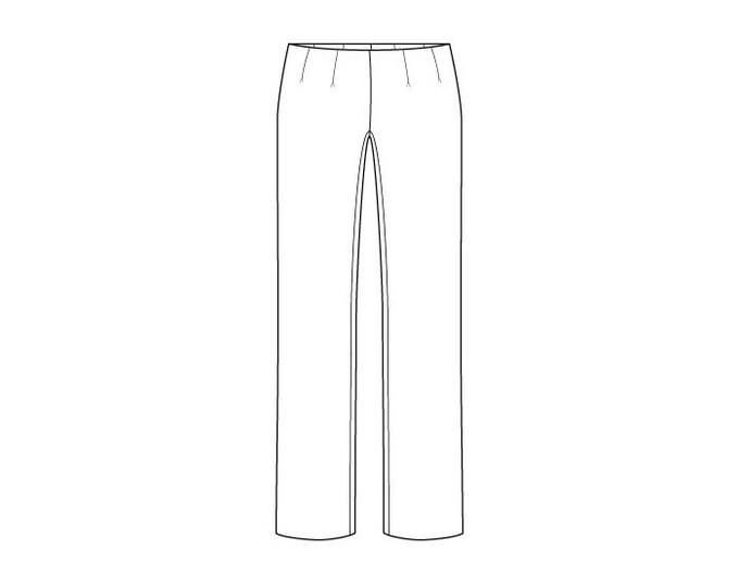 Basic Women's Trouser Block Pattern - Sizes 8-22 - Download PDF