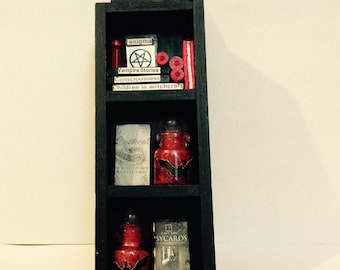 Dollhouse Miniature Halloween Display Cabinet