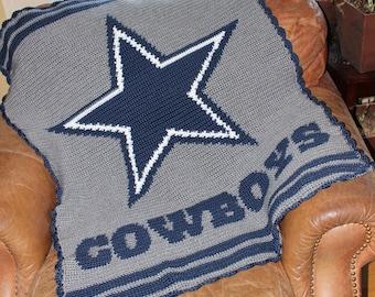 Cowboy crochet baby blanket