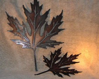 Maple Leaves  - Metal art