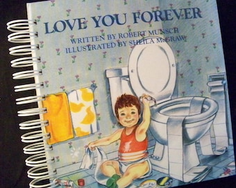 Love You Forever blank book journal diary planner altered book