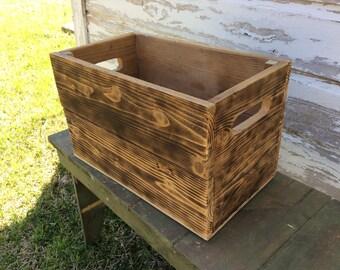 Rustic Wood Crate~Storage Box~Wood Box~Planter Box