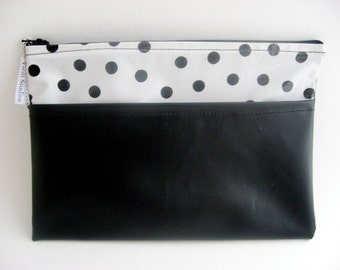 Chalkcloth and Polka Dot Oilcloth Envelope Clutch