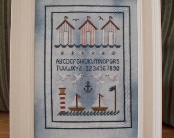 Seaside Cross Stitch Sampler PDF Chart INSTANT DOWNLOAD