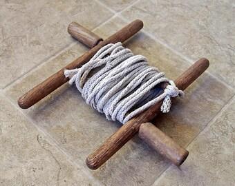 Vintage Wooden Rope Winder Reel