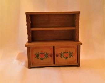 Austrian Wooden Kitchen China Cabinet