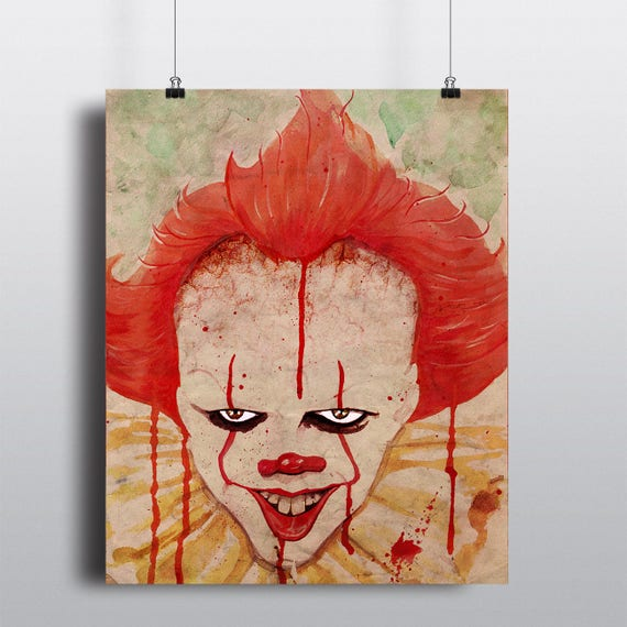 Pennywise - It Watercolor Painting