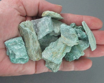 5 Raw Fuchsite Stones - Healing Crystals and Stones, Energy Healing, Heart Chakra, Reiki Attunement, Raw Crystals, Good Luck Stone (T224)