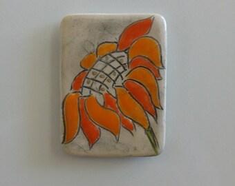 Sunflower Fridge Magnet, flower