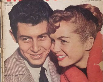 Movieland - Feb 1956 - Mr and Mrs Eddie Fisher