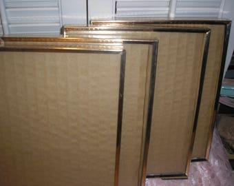 """Vintage Brass Gold Tone 8x10"""" Matching Picture Frames  (Lot 4) Glass /Easel"""