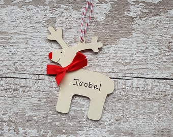 Christmas decoration | Handmade Christmas decoration | Personalised Christmas Decoration | Reindeer christmas tree decoration