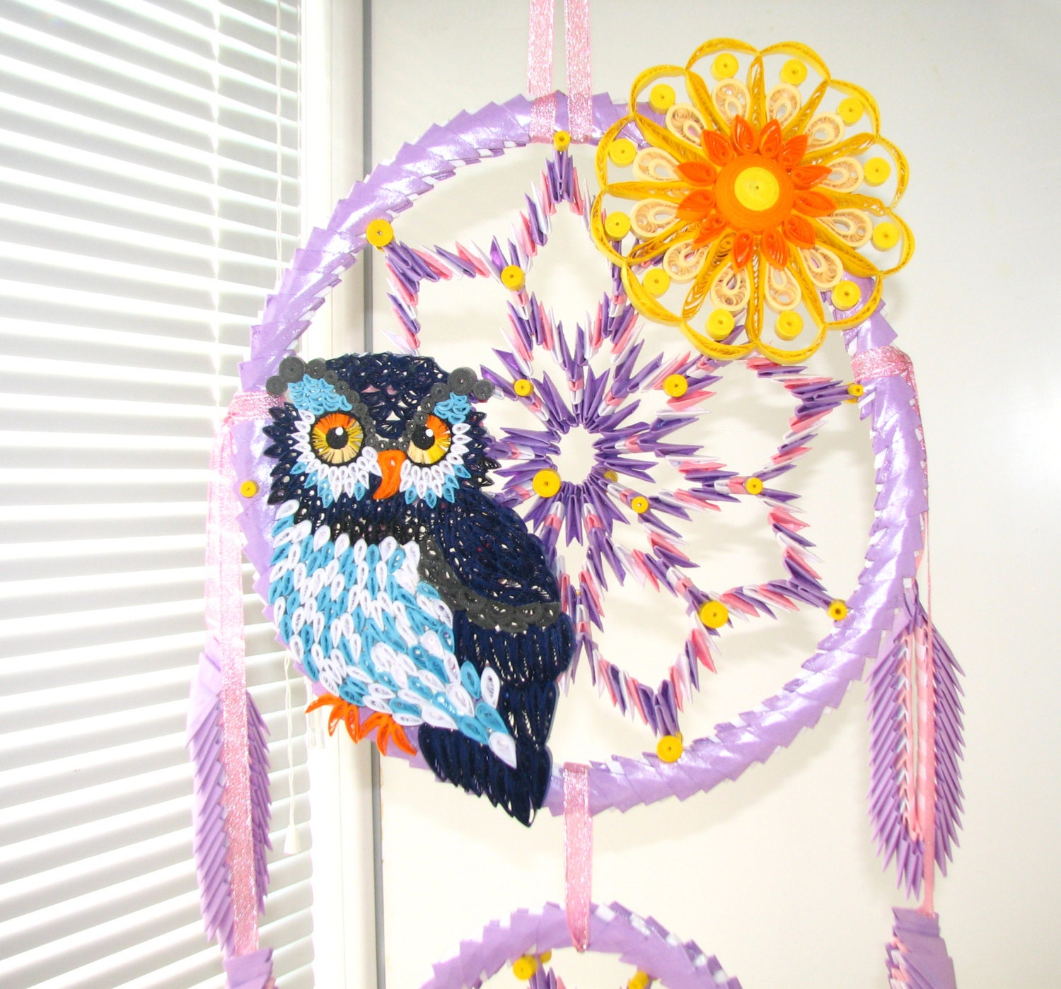 Quilling art origami dreamcatcher dream catcher large zoom jeuxipadfo Image collections