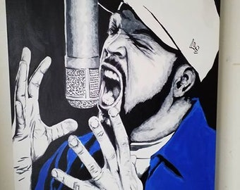 Ice Cube Acrylic on Canvas