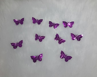 paillette sequins Butterfly set of 10