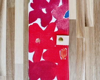 Red tract holder. Floral tract holder. Jw gifts. JW gift for sisters. Leather tract holder. Tract folder. Ministry organizer.