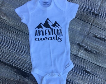 Adventure awaits outfit/ boys adventure outfit/ newborn outfit/ Adventure boy