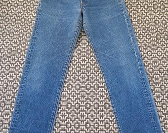 Vintage Levi's Jeans Denim levis 501 USA Made Dark Indigo Whiskers - Button Fly - 29/31