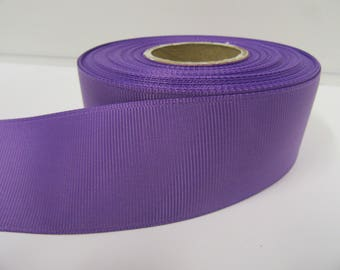 Grosgrain Ribbon 3mm, 6mm 10mm 16mm 22mm 38mm 50mm Rolls, Violet Purple, 2, 10, 20 or 50 metres, Ribbed Double sided,