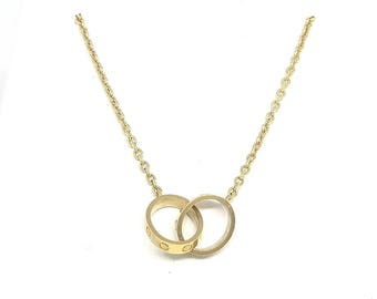 "Cartier ""Love Necklace"" 18ky"