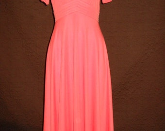 1970's Classic Julie Miller Of  California A line Dress
