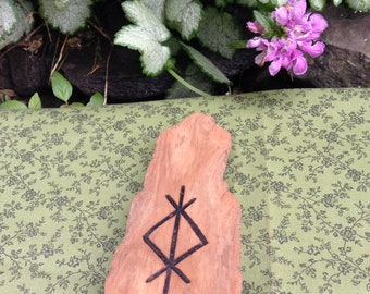 Driftwood Home Protection Wood Burned Home Decor   Pagan   Witchcraft    Spirituality