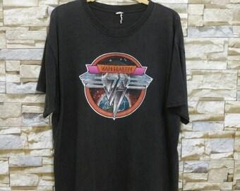 Vintage Van Halen Iconic Logo Rock Band 80's T-Shirt