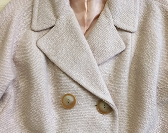 1960's Boucle Knit Suit with Cropped Jacket