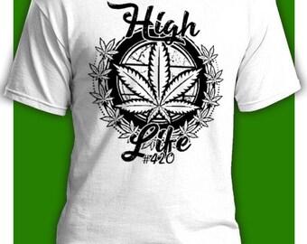 High Life White. T