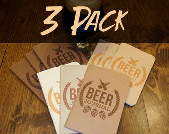 Beer Tasting Journal (3 Pack)