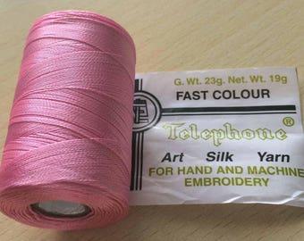 Rayon thread / 18 pink artificial silk