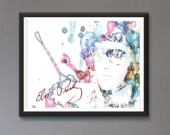 Elvis Presley Wall Art Print / Poster Original Design A3, A2, A1, A0