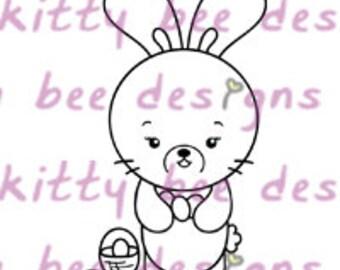 Easter Bun Digital Stamp