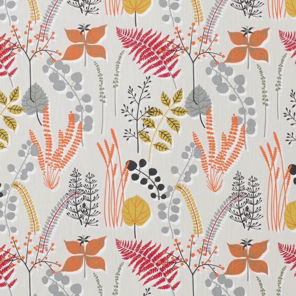 Scandi Fabric Boho Fabric Red Grey Fabric Per metre