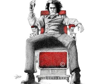 Sweeney Todd: The Demon Barber of Fleet Street Print (Pen Drawing)