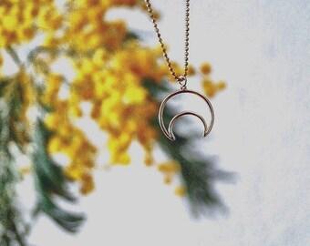 Half Moon necklace. HALFH Moon necklace.