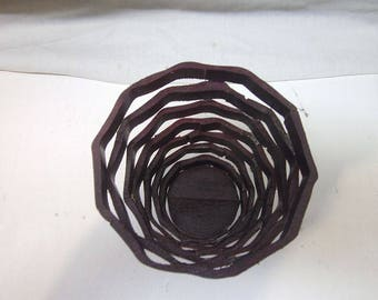 "Handmade 5"" Purpleheart wooden Wobble Basket, Candy Dishes, Potpourri Holders, HouseWarming Gifts"