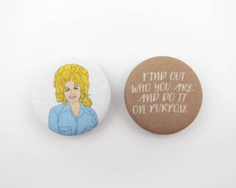 Wise Words from Dolly Magnets | Dolly Parton | Knoxville | Refrigerator Magnets | Set of 2 Magnets | Gifts Under 5 | Stocking Suffer