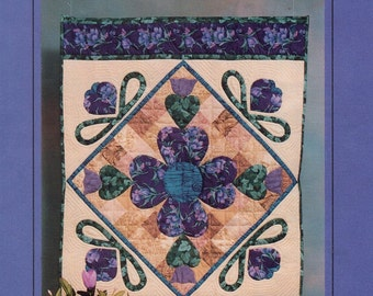 Free Usa Shipping Craft Sewing Pattern Quilt Blooming Heart Patchwork Collection  1991 Congrove Enterprises New
