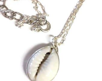 Seashell pendant etsy cowrie shell pendant aloadofball Images
