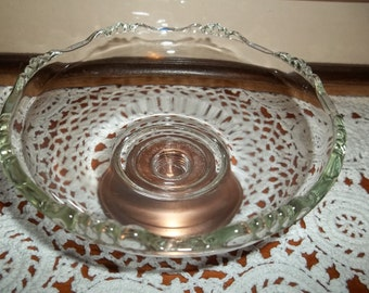 Glass and Copper Candy Dish